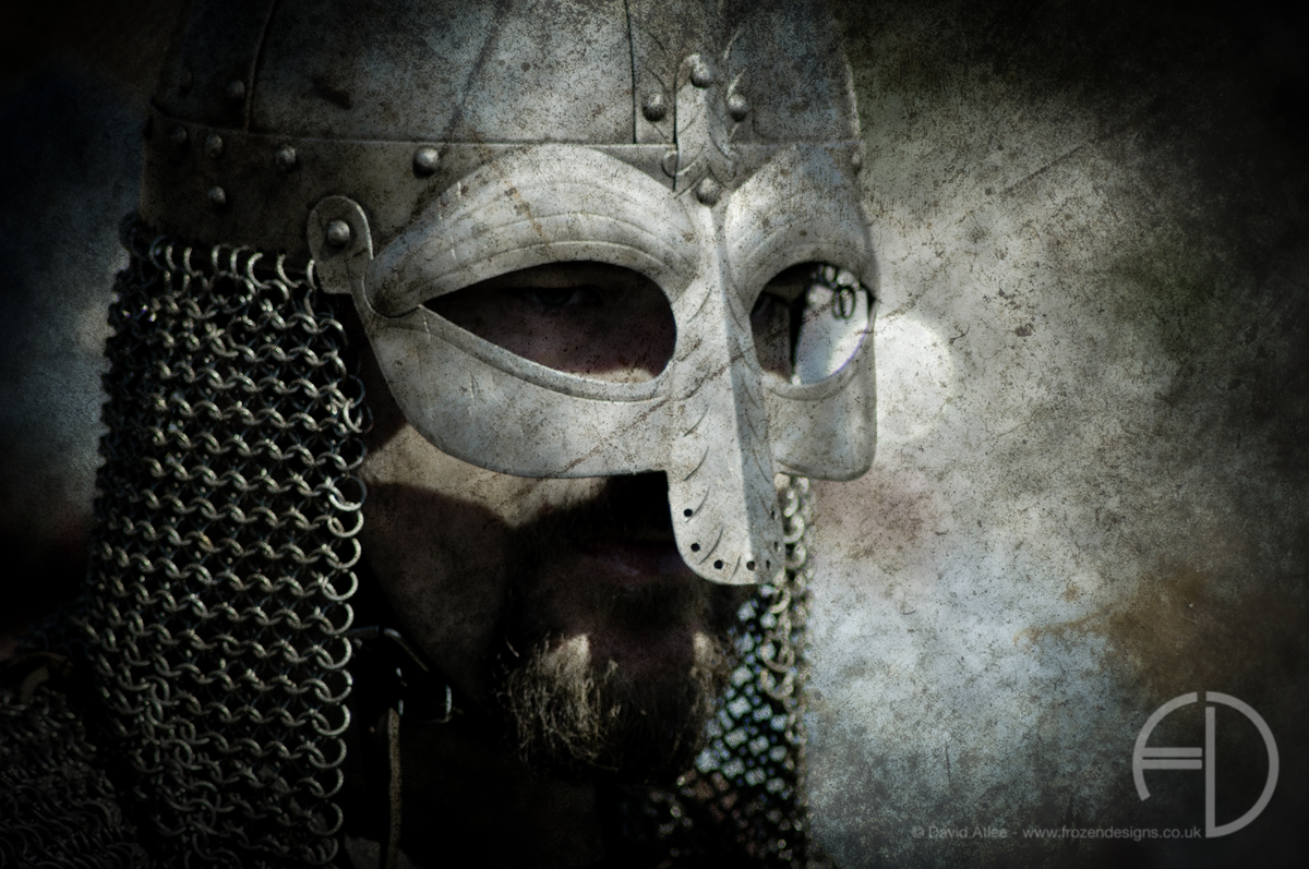 A Viking Warrior looks across the battle field.